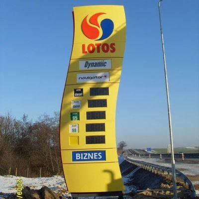 Reklama dla stacji paliw